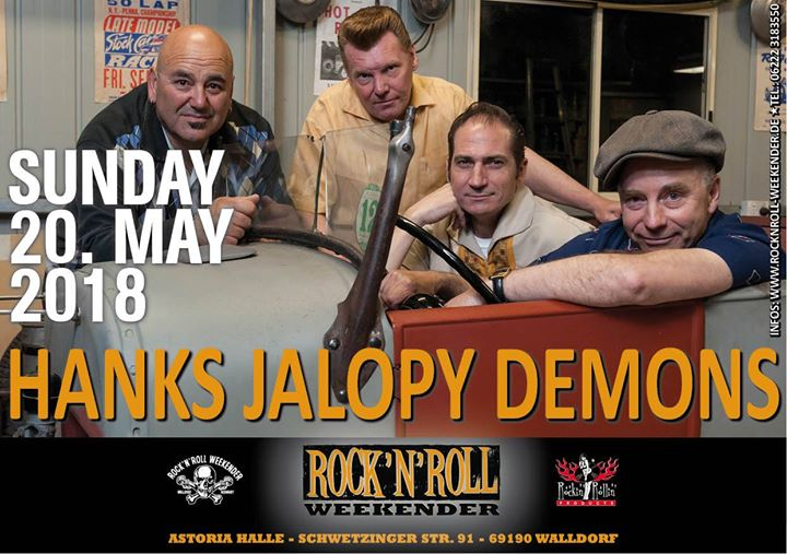 Howdy Y'all: am SO., 20. Mai 2018 starten wir mit diesen feinen Bands in den Nachmittag: Los Terribles de Tijuana (ITA) Hank's Jalopy Demons (AUS) Johnny Horsepower (DEN)